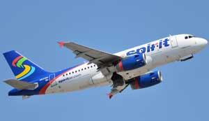 Exitosa venta de vuelo inaugural de Spirit a El Salvador