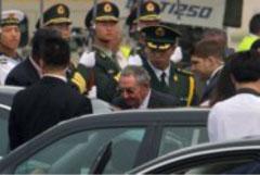 Raúl Castro llega a Pekín en su primera visita de Estado a China