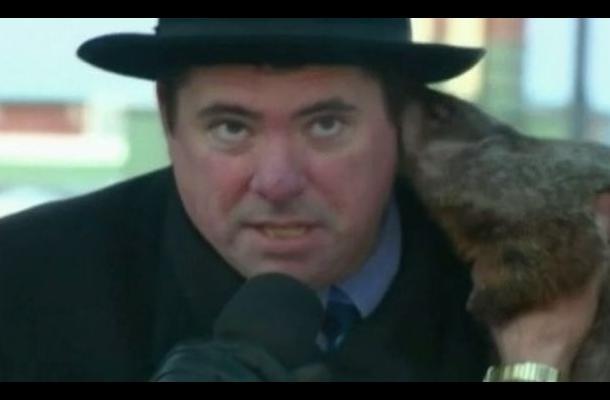 Marmota usada para predecir el tiempo muerde la oreja del alcalde de Wisconsin