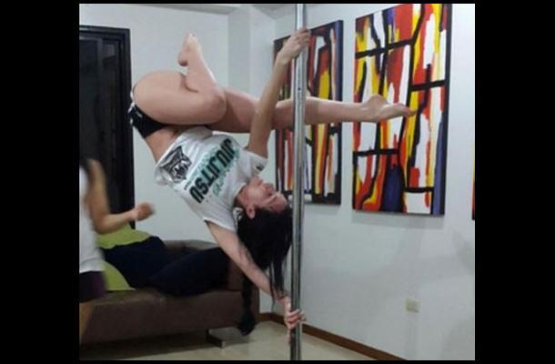 A Diosa Canales se le explotó un seno haciendo pole dance