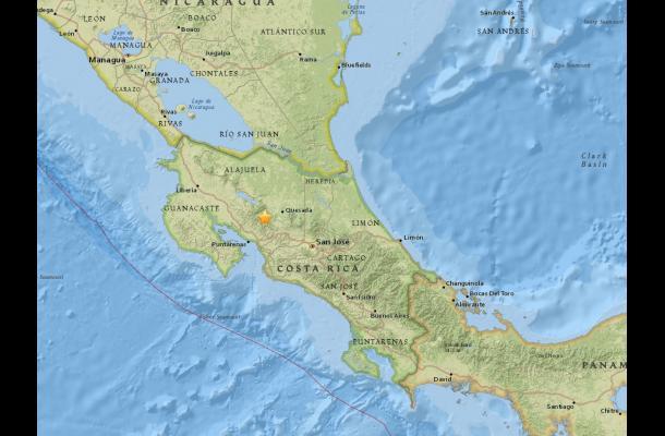 Sismos de 5.2 y 5.8 sacuden a Costa Rica y Ecuador