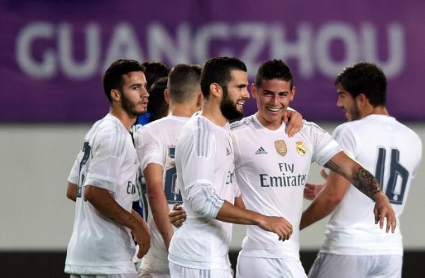 Real Madrid gana 3-0 al Inter con gran gol de James Rodríguez