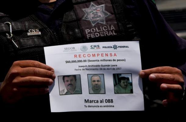 EEUU publica cartel y teléfonos para hallar al capo mexicano