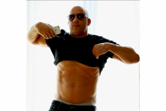 Con esta foto Vin Diesel demuestra que es falso su supuesto sobrepeso