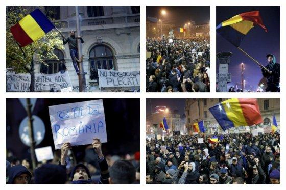 Por cuarto día consecutivo miles de rumanos se manifiestan contra la corrupción