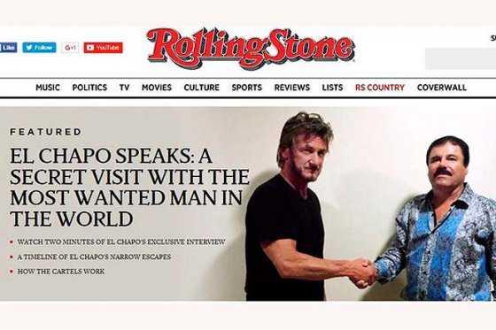"""La entrevista de Sean Penn a 'El Chapo' Guzmán es """"buena"""""""