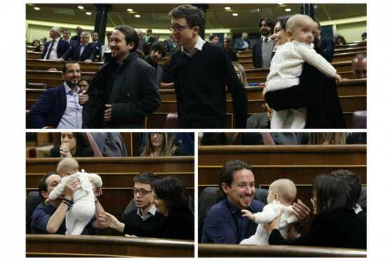 Polémica por presencia de un bebé en el Congreso de España