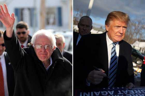 Donald Trump y Bernie Sanders serían los ganadores en New Hampshire
