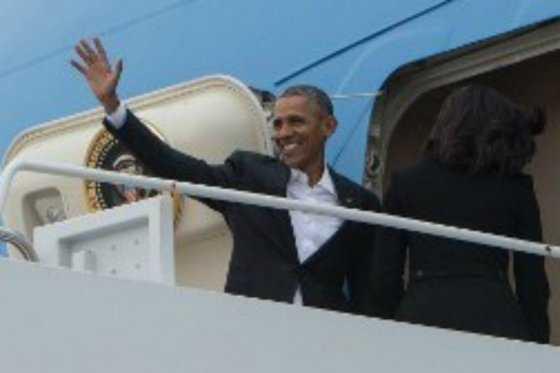 Barack Obama parte de EE.UU. hacia Cuba