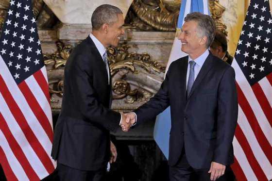 Obama y Macri inician su reunión en la Casa Rosada