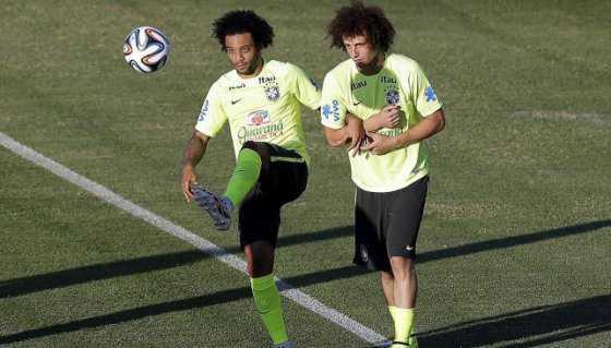 Marcelo y David Luiz, ausentes en lista provisional de Brasil para la Copa América