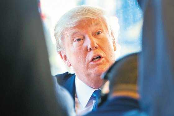 Aterrizaje forzoso de Donald Trump