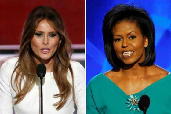 Acusan a esposa de Trump de haber plagiado discurso de Michelle Obama