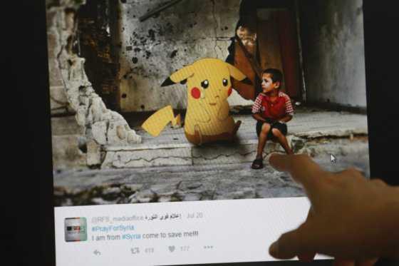 Niños piden ser rescatados en Siria a través de una parodia de Pokémon Go