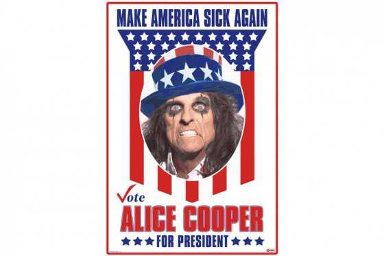 Alice Cooper lanza curiosa campaña para ser presidente de Estados Unidos