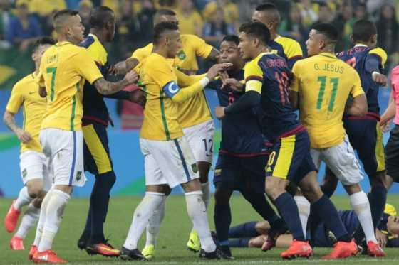 Colombia-Brasil, con un pasado reciente lleno de roces y polémicas