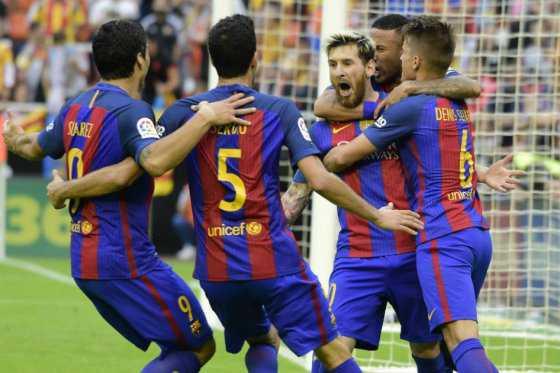 Sin su capitán Andrés Iniesta, Barcelona venció 3-2 a Valencia