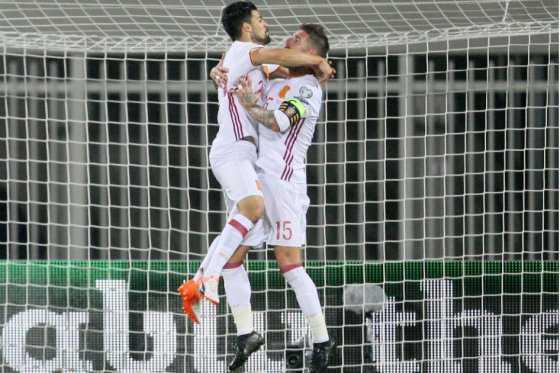 España venció 2-0 a Albania y es líder del Grupo G de las eliminatorias a Rusia 2018