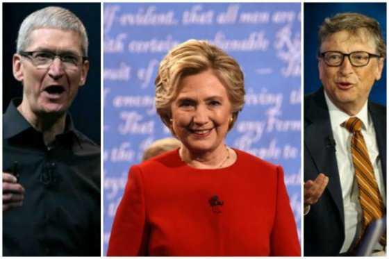 Campaña de Hillary Clinton contempló a Tim Cook y Bill Gates como fórmula vicepresidencial