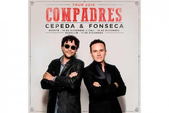 Andrés Cepeda y Fonseca anuncian la gira «Compadres»