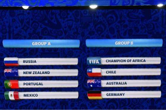Chile debutará frente Alemania en la Copa Confederaciones