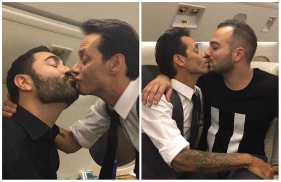 Después de JLo, Marc Anthony se besa con varios hombres