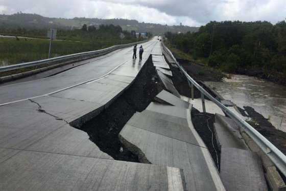 Incomunicada por tierra isla grande de Chiloé tras terremoto en Chile