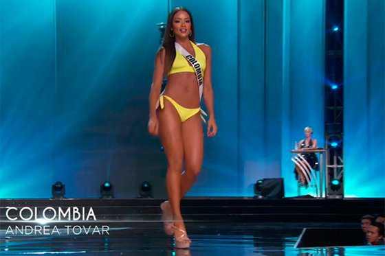 Así fue la presentación de la señorita Colombia en competencia preliminar de Miss Universo