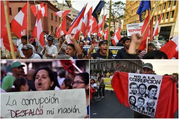 Multitudinaria marcha en Perú para pedir justicia en caso Odebrecht