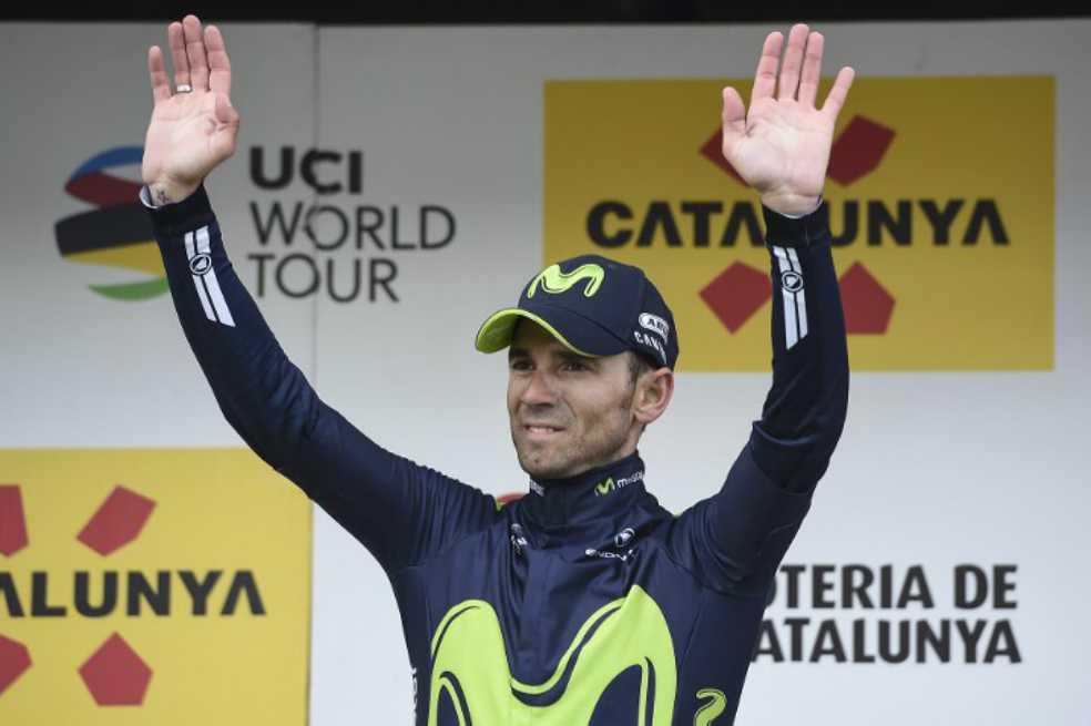 Alejandro Valverde, lider tras ganar quinta etapa de la Vuelta a Cataluña