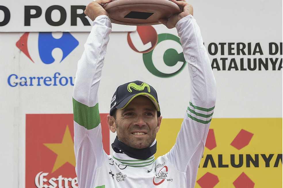 Valverde, líder de la Vuelta a Cataluña a falta de una etapa