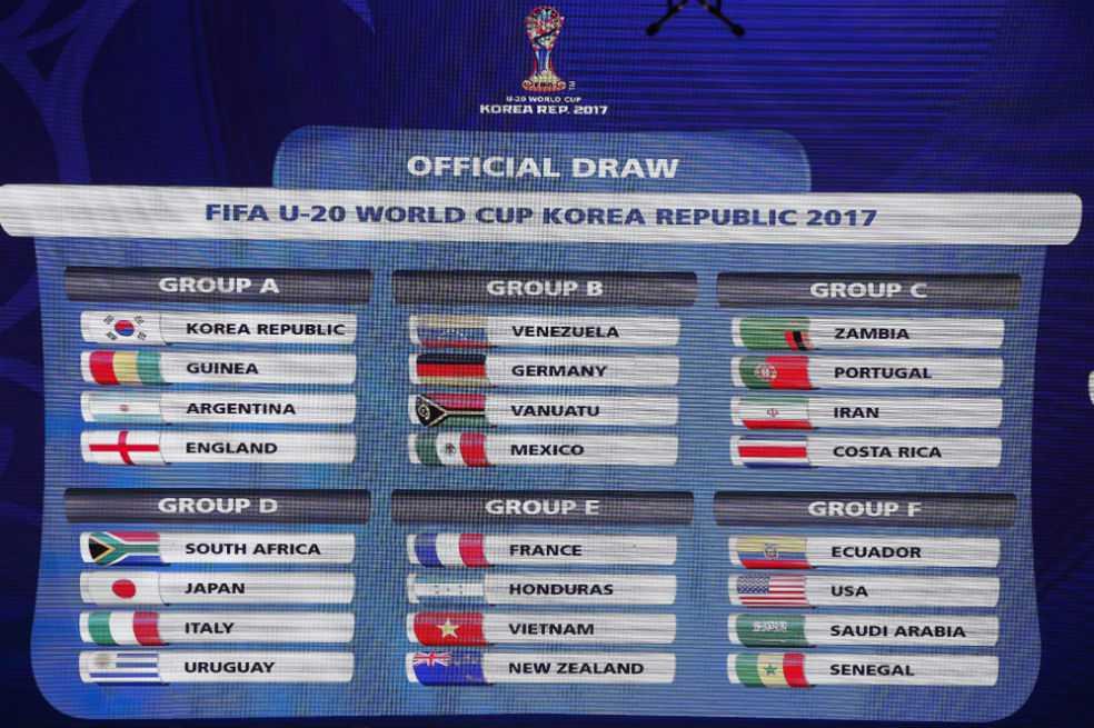Argentina debutará frente a Inglaterra en el Mundial sub 20 de Corea