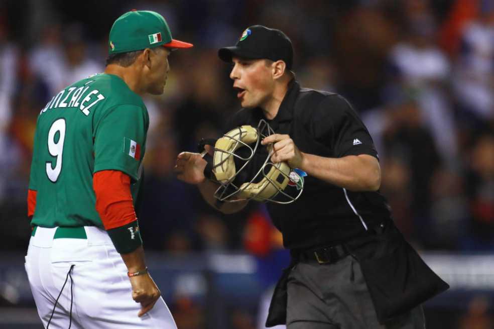 Por mala interpretación del reglamento, México es eliminado del Clásico Mundial de Béisbol