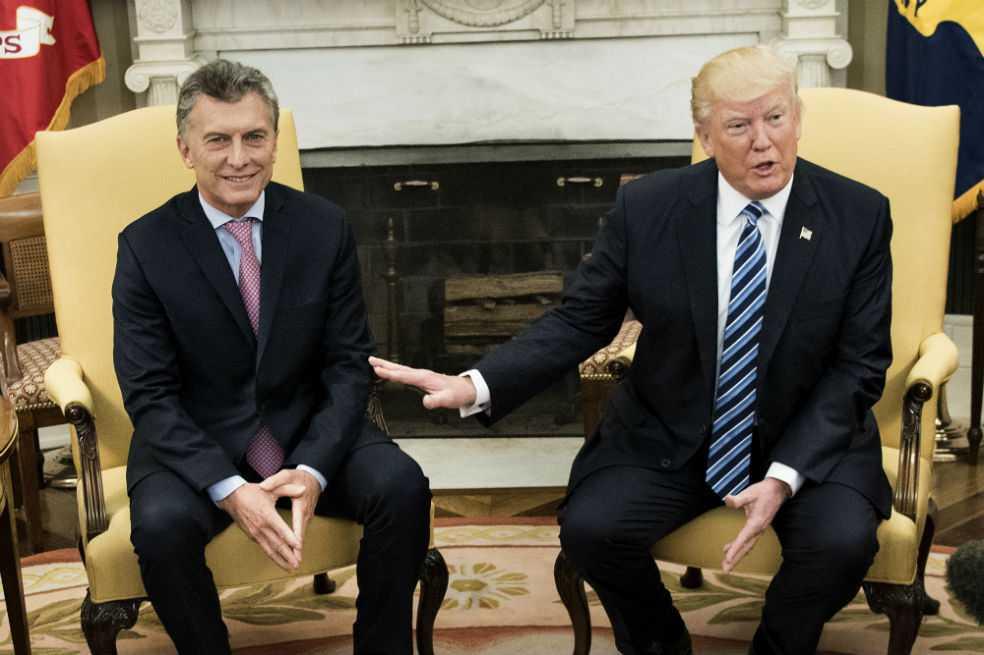Trump recibió al presidente argentino Macri, «un gran líder», en la Casa Blanca