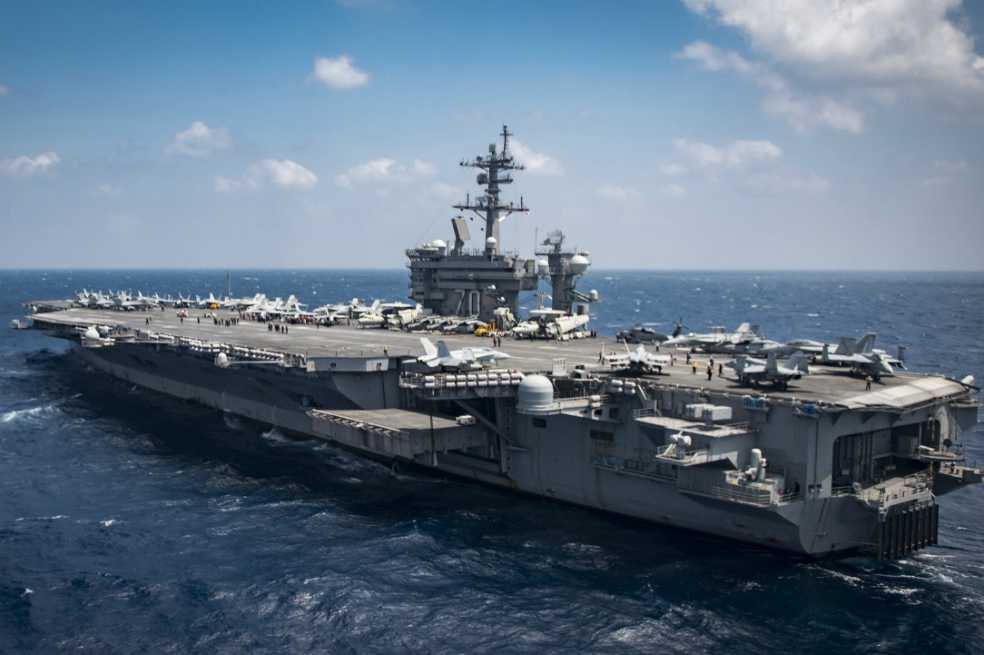 Portaaviones norteamericano llegará al Mar de Japón en cuestión de días