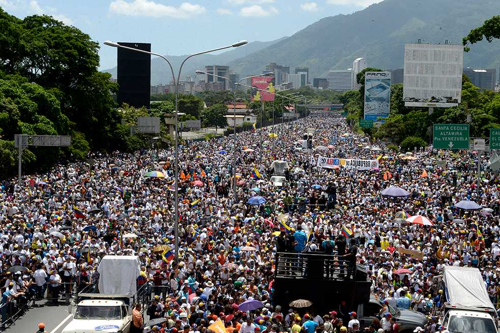 Más de 200.000 personas protestaron contra Maduro en Venezuela