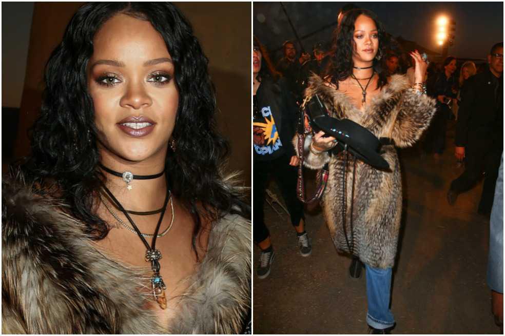Peta pide a Rihanna que done sus abrigos de piel a refugiados sirios