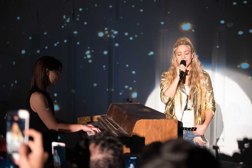 Shakira dedica canción a su hijo durante presentación de «El Dorado» en Barcelona