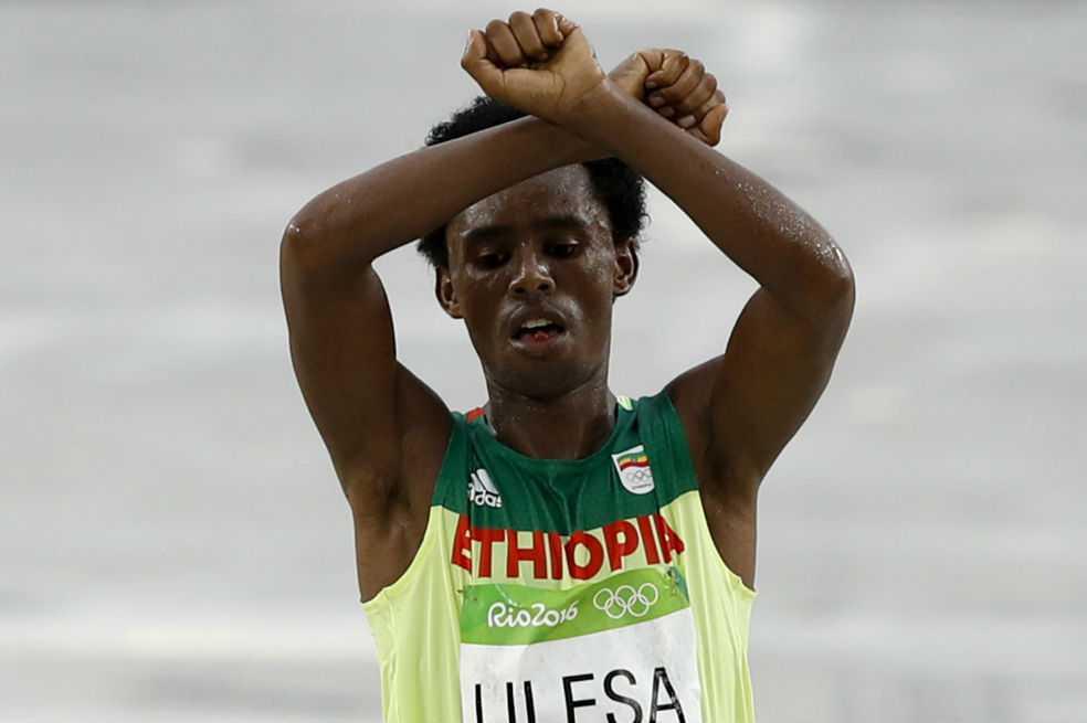 Feyisa Lilesa, el etíope que se refugió en Estados Unidos por miedo a ser asesinado