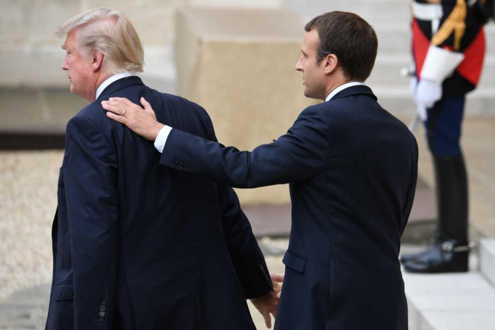 Trump y Macron: los nuevos mejores amigos (por conveniencia)