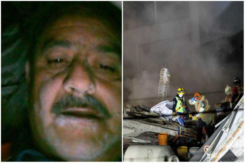 Martín, el hombre que se tomó una selfie tras 17 horas bajo los escombros en México