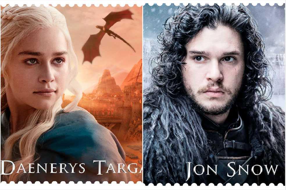 Servicio postal del Reino Unido rinde homenaje a «Juego de tronos»