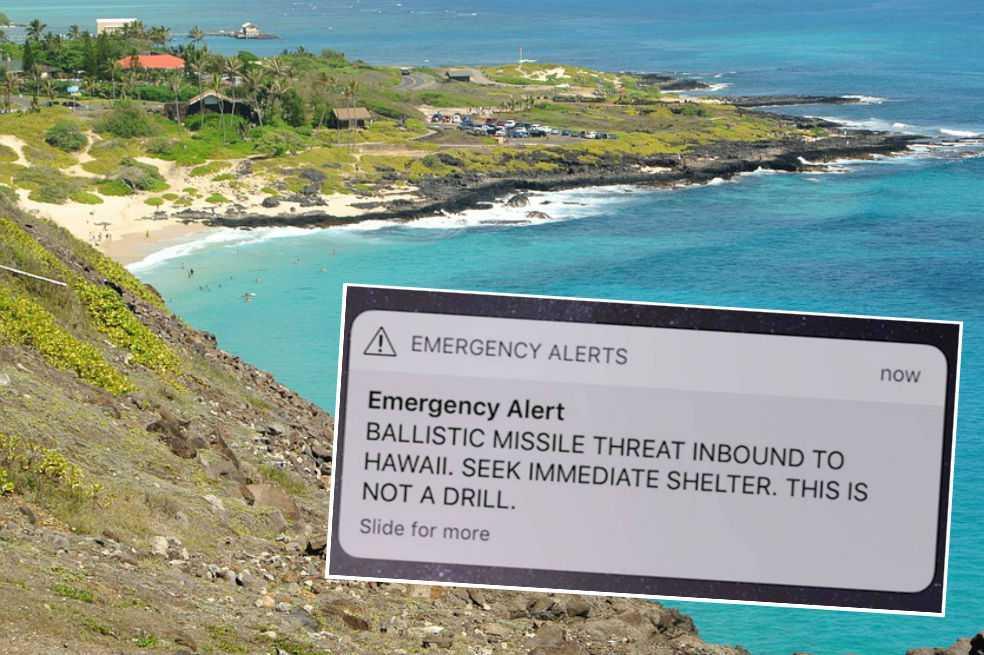 Pánico en Hawái tras falsa alerta de ataque con misiles