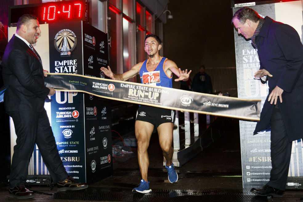 Frank Carreño, campeón del Empire State Building Run Up