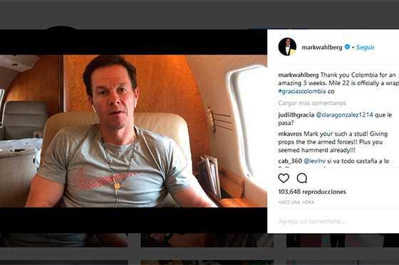 Mark Wahlberg finaliza rodaje en Colombia y publica video de agradecimiento