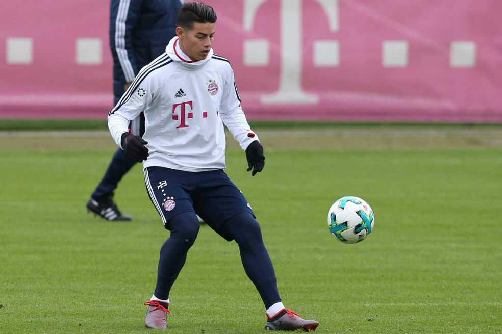 Calienta para la Champions: James, fuera de la convocatoria del Bayern frente al Hamburgo
