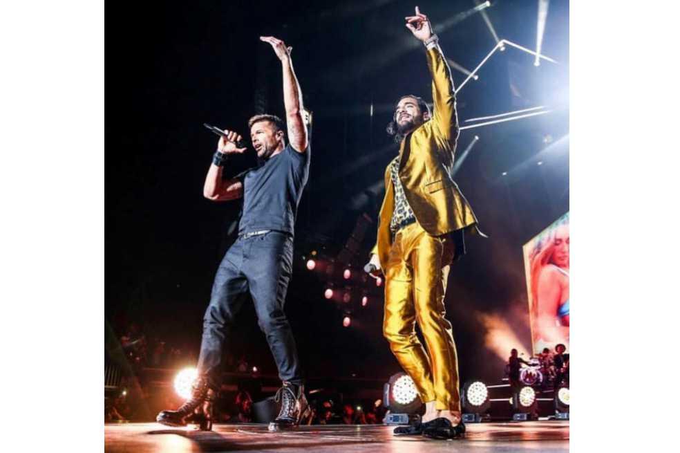 Ricky Martin sorprende a fans de Maluma en concierto de Los Ángeles