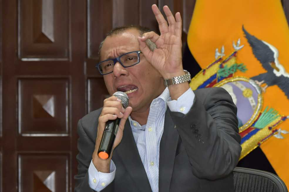 Jorge Glas demanda al presidente de Ecuador por haberlo destituido