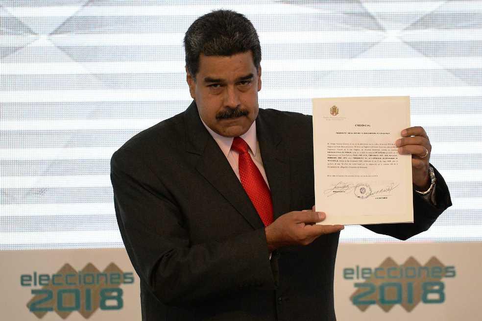 Maduro proclamado como presidente reelegido para gobernar hasta el 2025