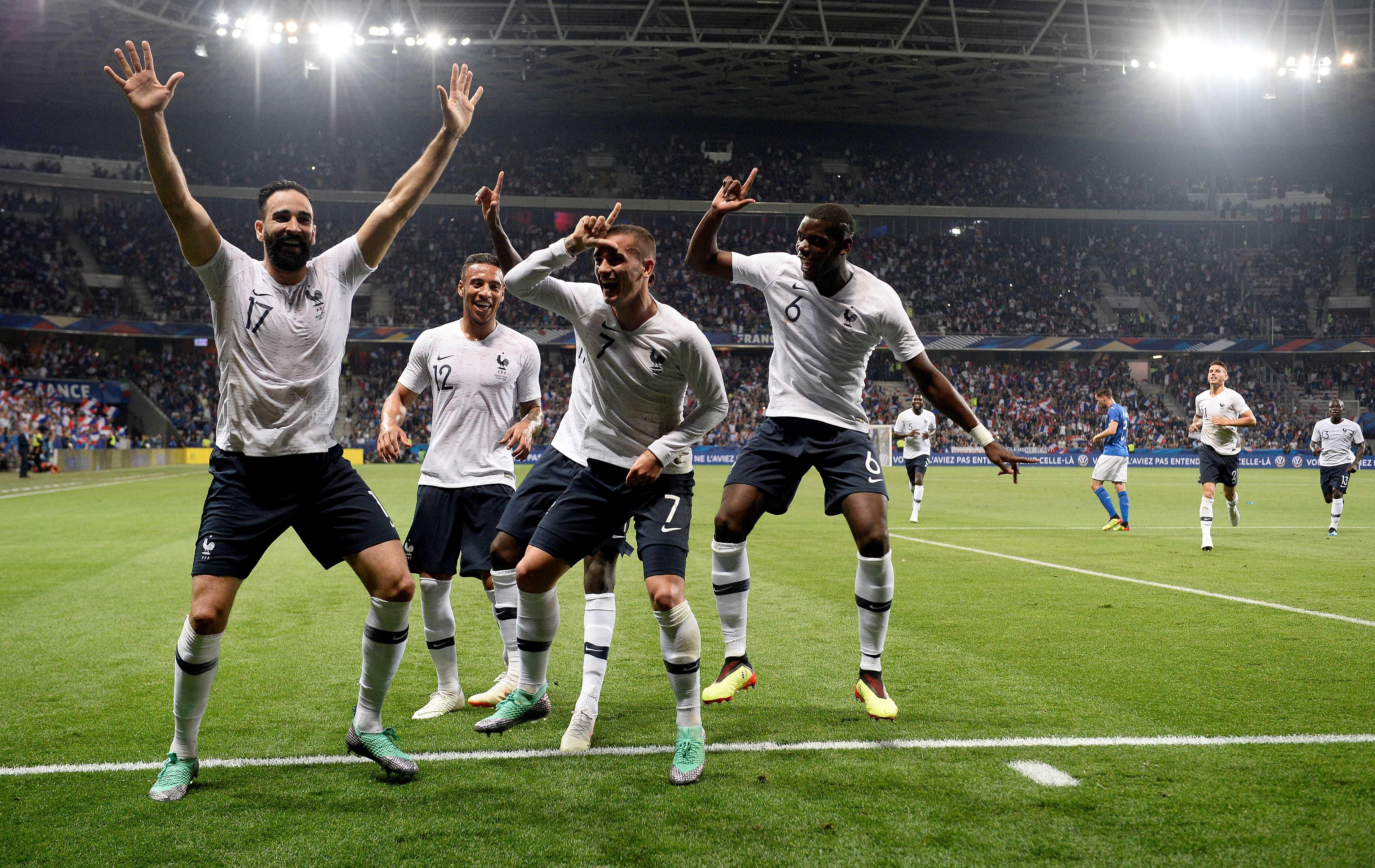 Francia venció 3-1 a la nueva Italia de Roberto Mancini